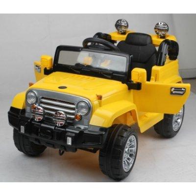 masina pentru copii galben